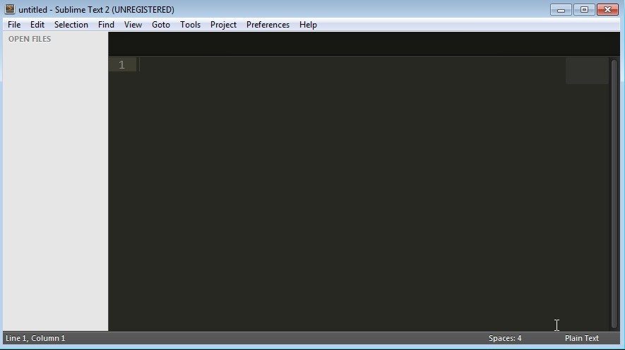 Sublime Text 2 blank window