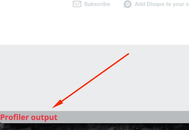 Figure 4: Link to profiler output