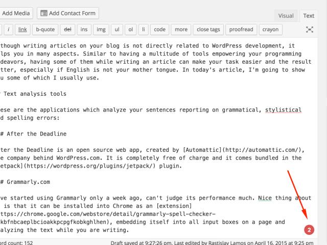 Grammarly.com checker