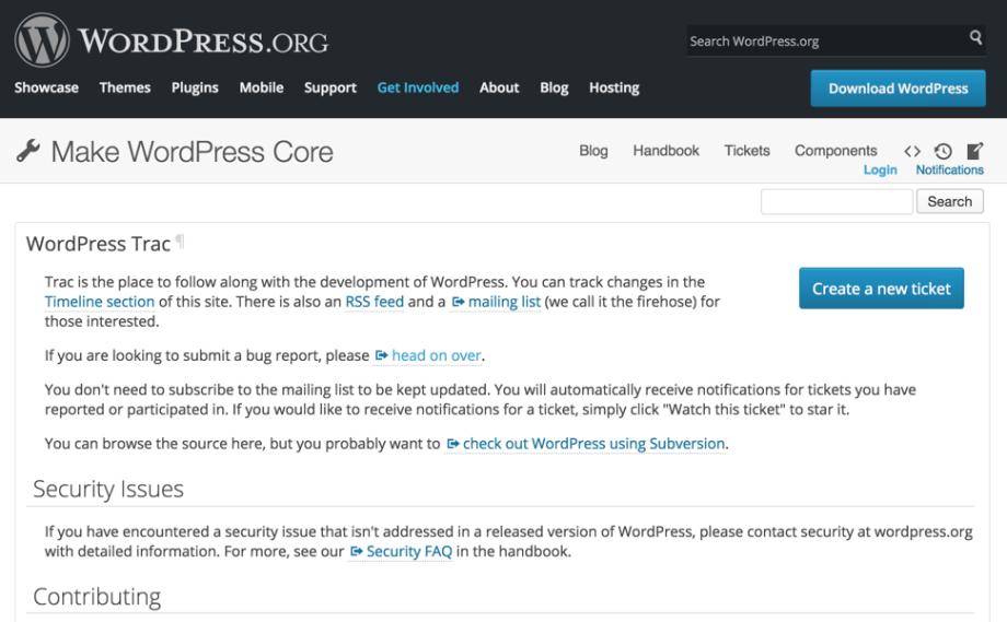 Figure 1: Trac homepage